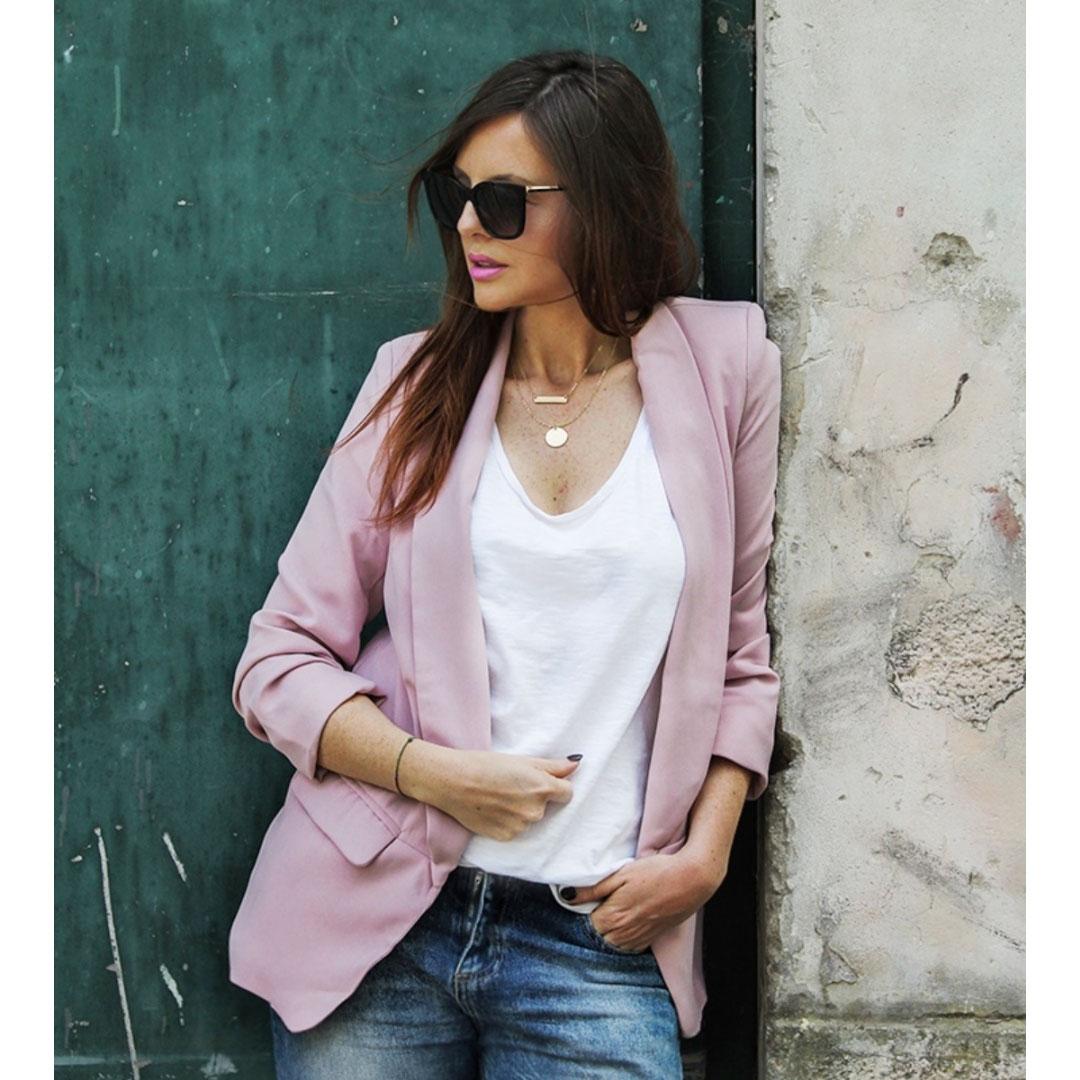 giacca rosa shein