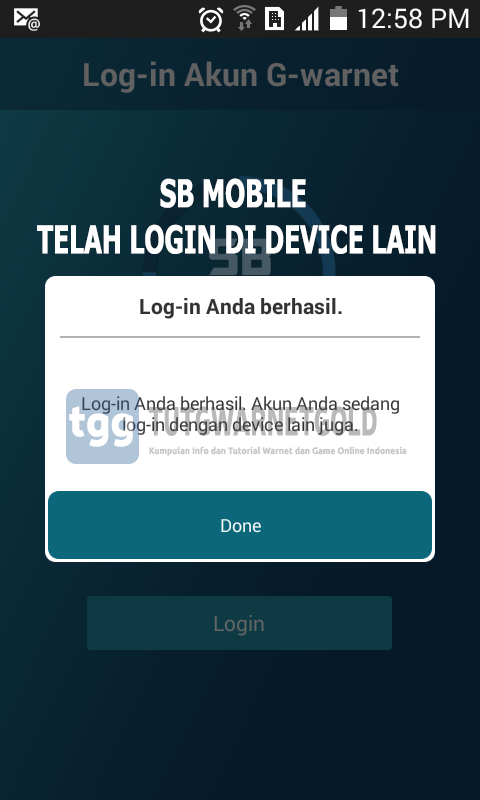 Cara Mengatasi Error SB Mobile Akun Log-in di Device Lain