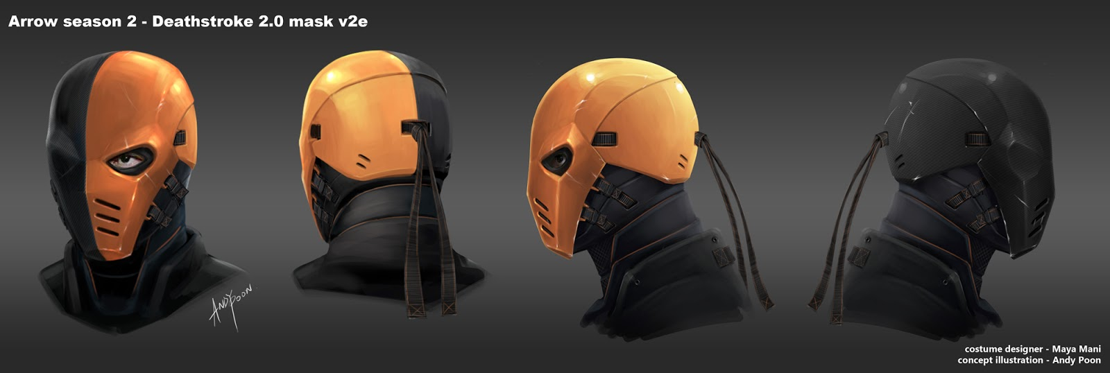 So here is the deathstroke season 2 mask! Iu0027m not having so much luck with making masks. Any one interested in commisioning this mask for me? & Help source Arrow Deathstroke pieces - Page 3
