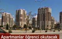 İzmir Karşıyaka Bu Apartman Öğrenci Okutuyor