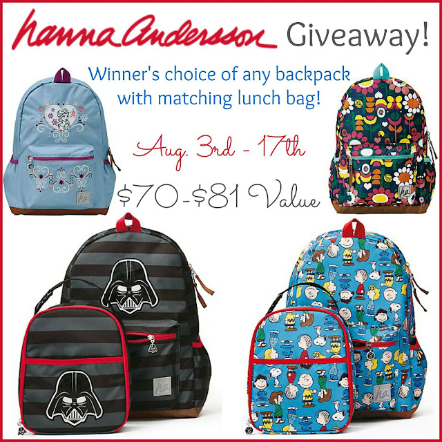 Hanna Andersson Backpack Giveaway