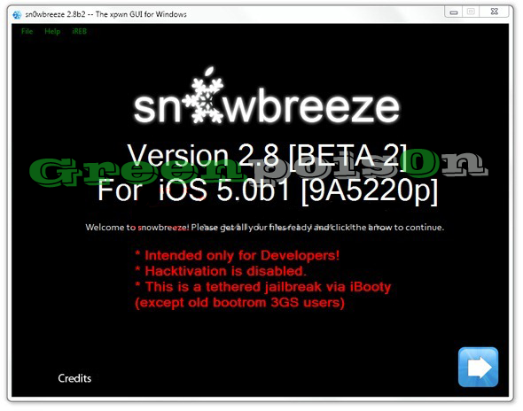 Download Sn0wbreeze 2.8b2 - Untethered Jailbreak iOS 5 [Windows]