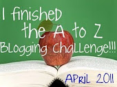 Finished A-Z Blogging Challenge Award