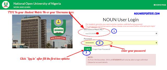 National Open University of Nigeria Login
