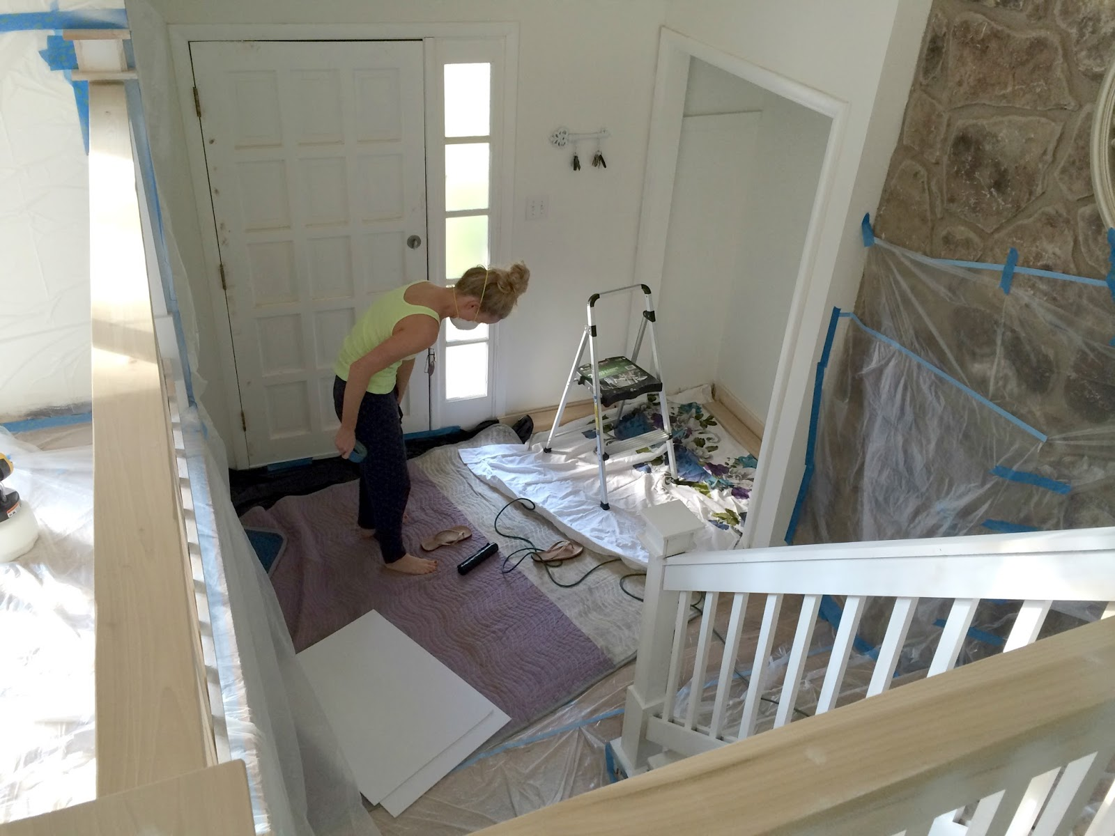 LiveLoveDIY: Our 1970's House Makeover Part 7: The Painted ...