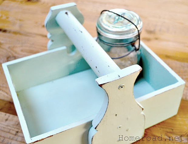 How to Make a DIY sea glass colored Crate from an organizer. Homeroad.net