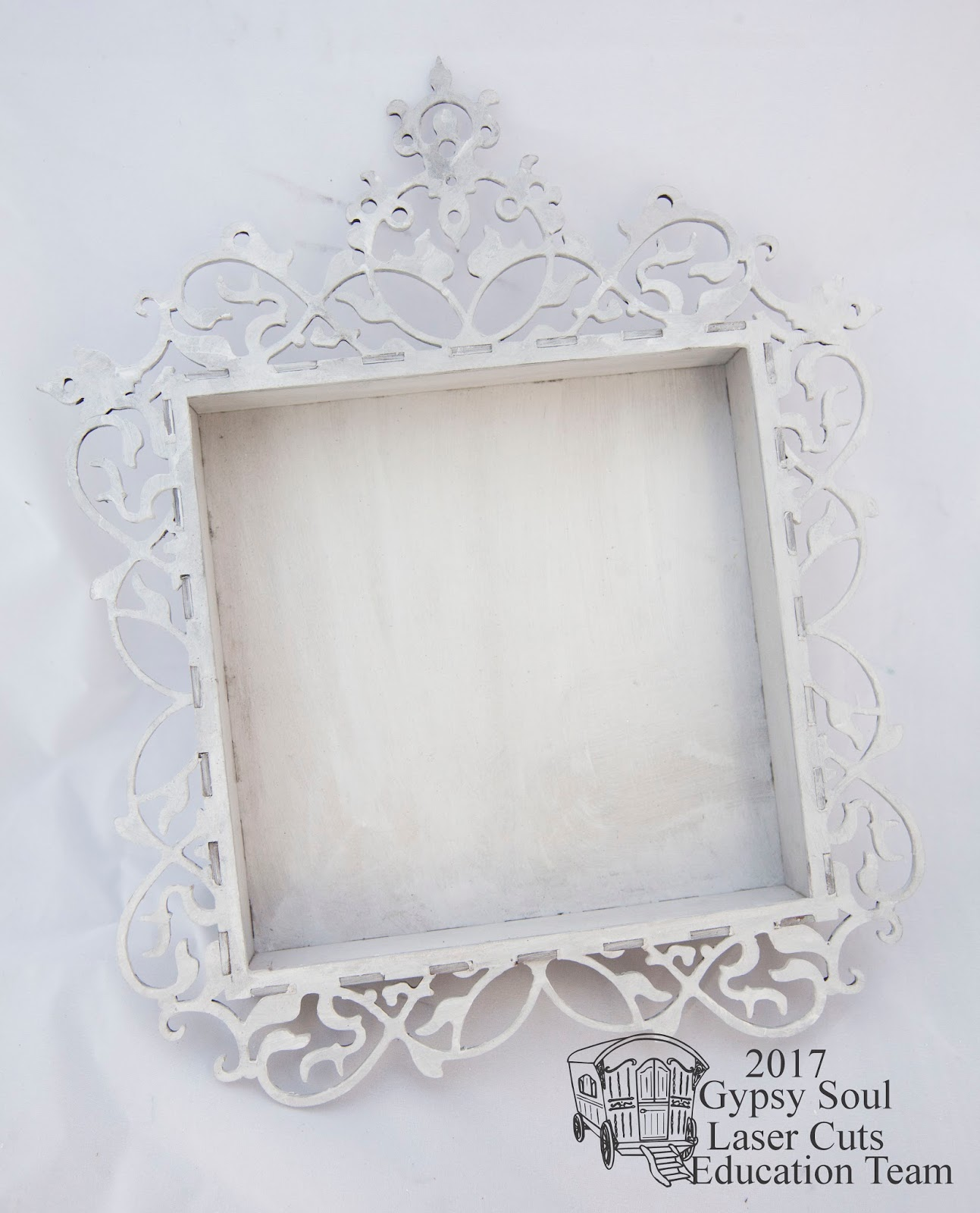 Gypsy Soul Laser Cuts: Vintage Deco frame Shadowbox with Canvas Corp