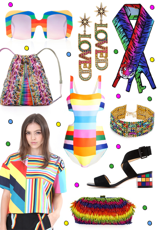 rainbow fashion, wish list, fashion blogger