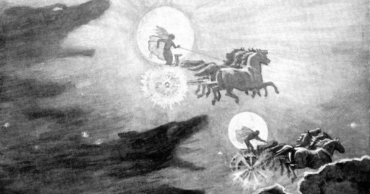 In Norse Mythology, The Sun And Moon Are Perpetually Being Chased By Wolves