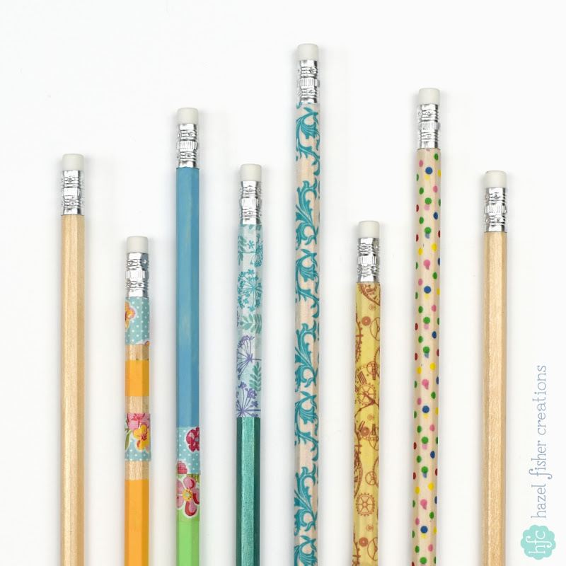 3 ways to decorate pencils by Hazel Fisher Creations