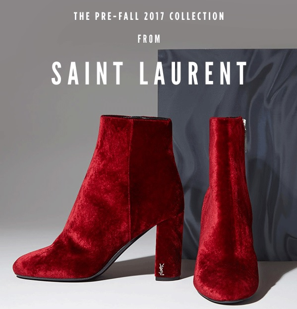 Saint Laurent Pre-Fall 2017 Footwear