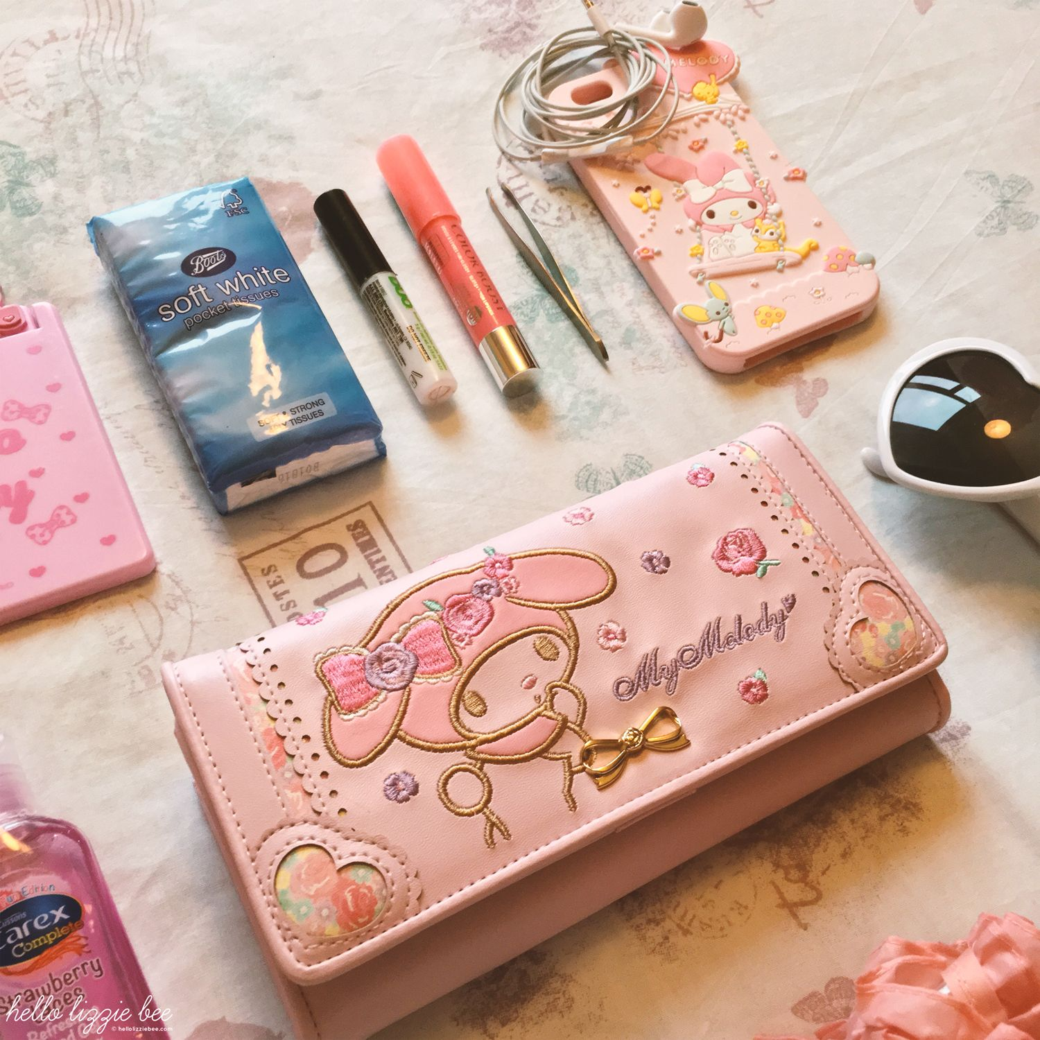 kawaii my melody purse and accessories