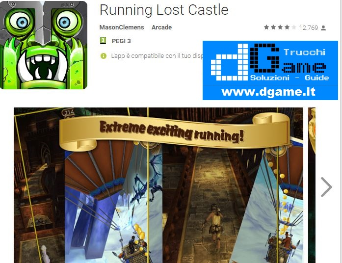 Trucchi Running Lost Castle Mod Apk Android v1.3