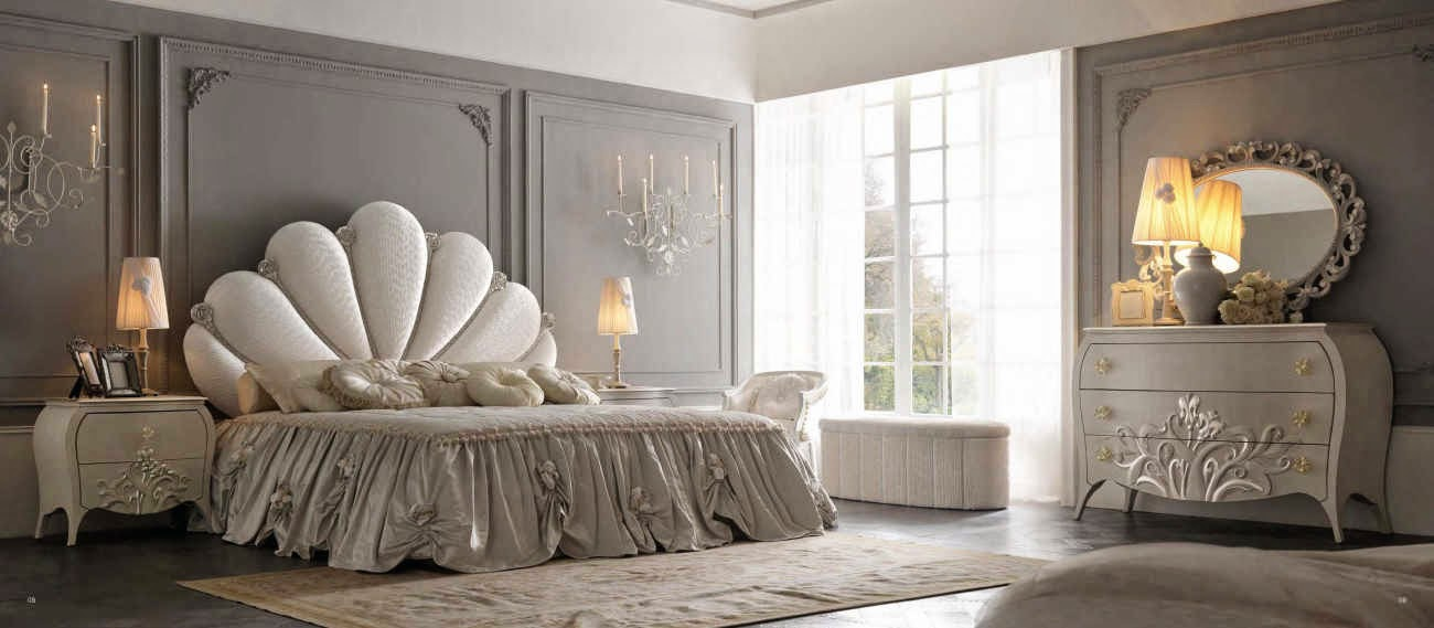 Design interior mobila dormitor de lux Italia - Design Interior | Amenajari interioare - Bucuresti | Mobilier Italian | mobila lux italia pat Capri