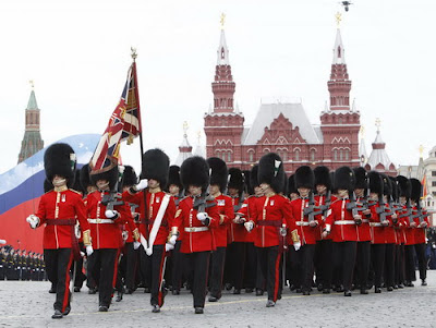 British military parade in Red Square May 9 Victory Day