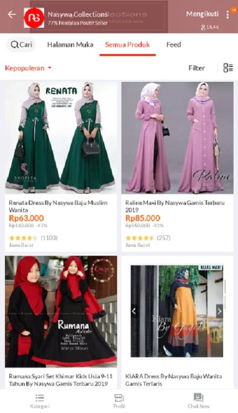 Nasywa Collection Sebagai Toko Baju Muslim Terlaris di Lazada
