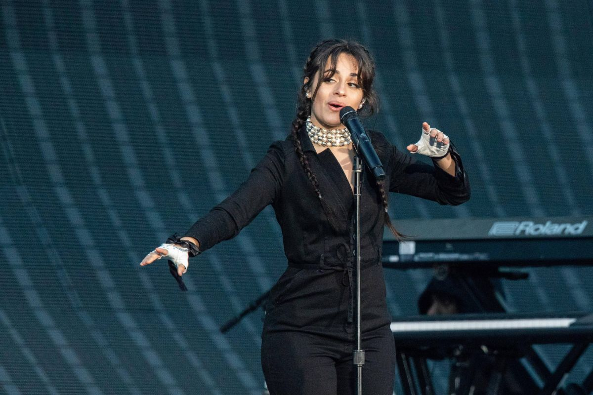 Camila Cabello Performing during the Reputation Tour at Soldier Field in Chicago