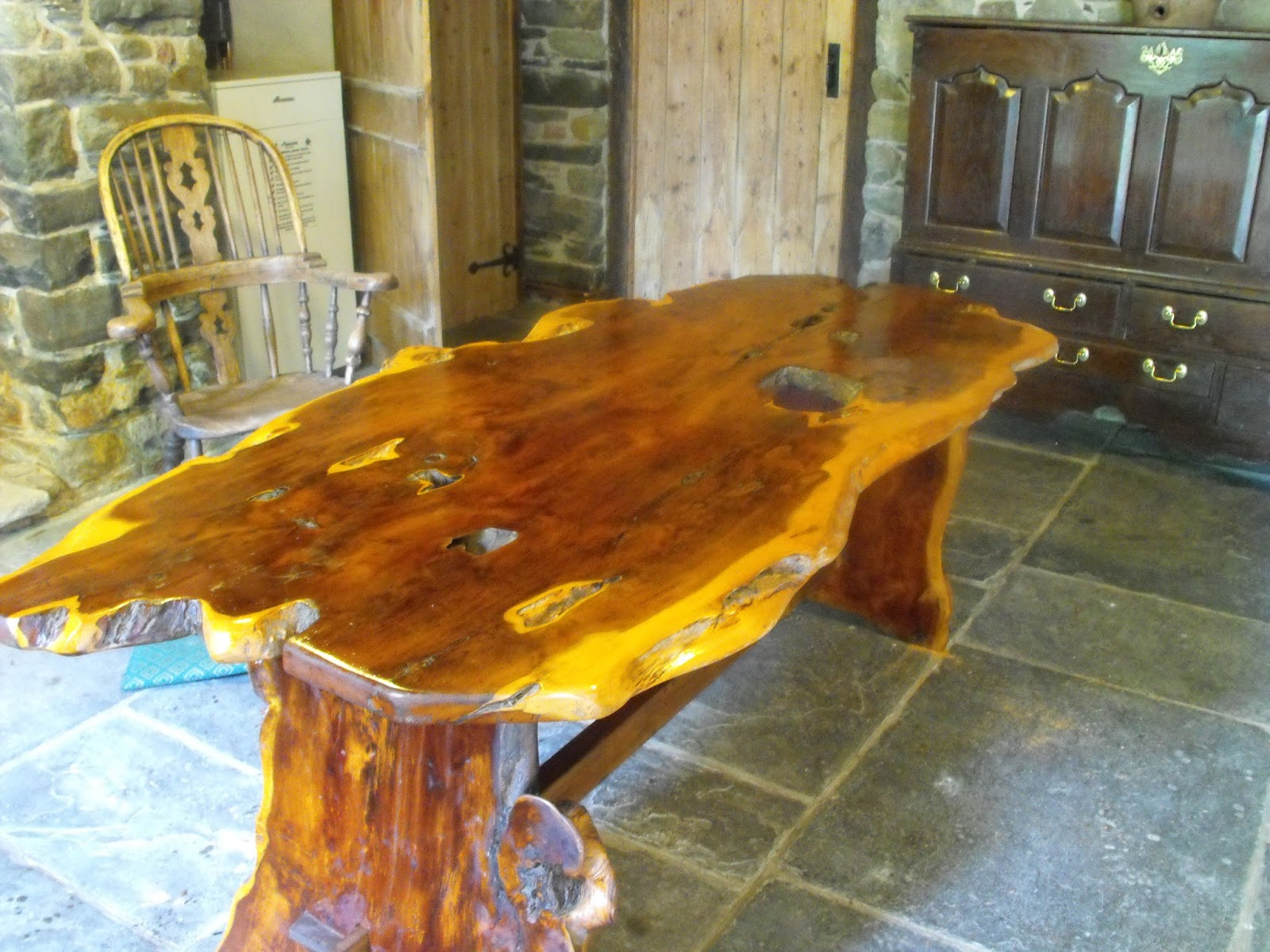 Superieur One Finished Yew Wood Table .