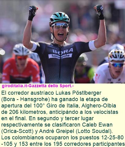 100 Giro de Italia - Etapa 1