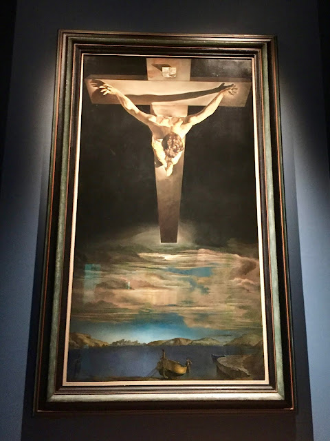 Christ of St John on the Cross by Salvador Dali in the Kelvingrove Art Gallery & Museum, Glasgow, Scotland