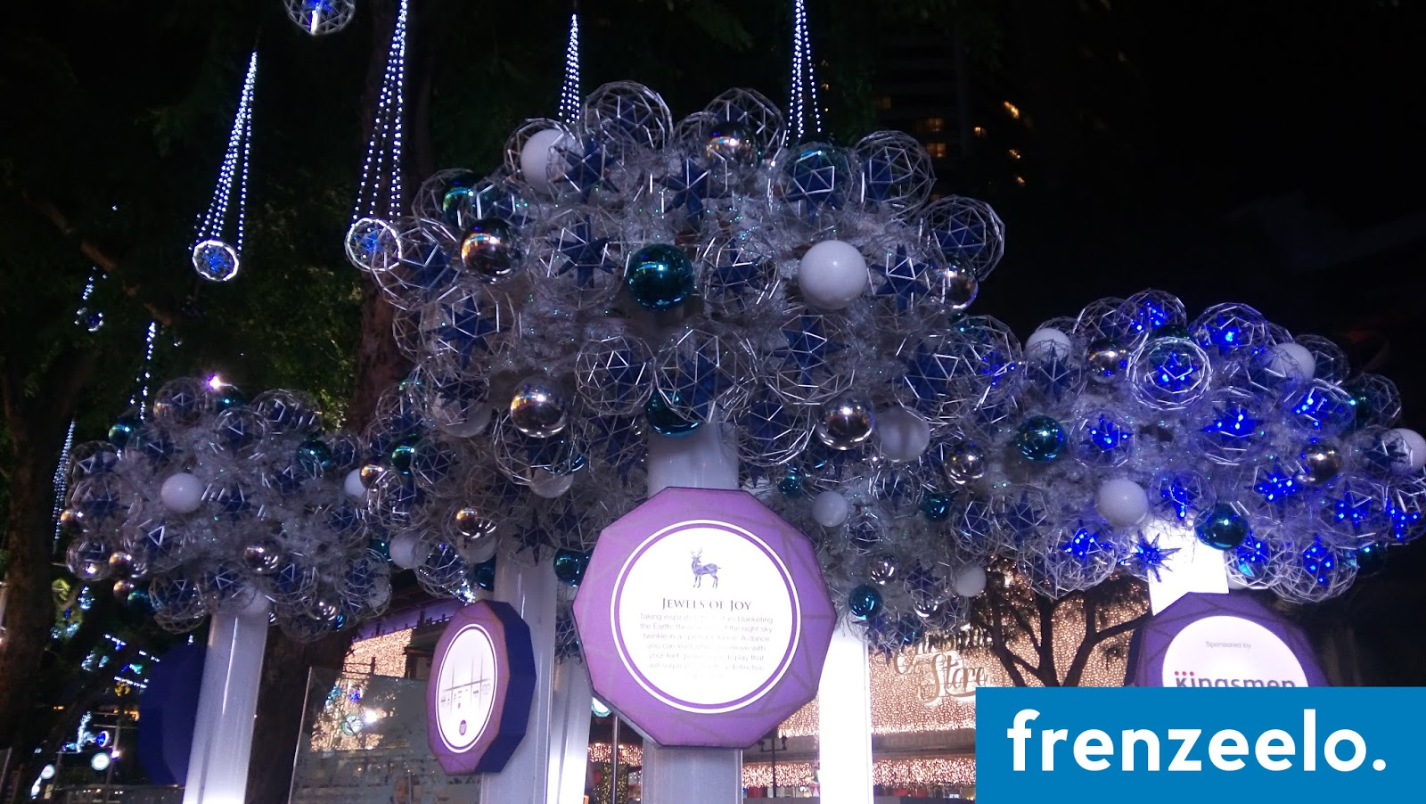 in addition to the christmas lights and mall decorations are interactive light installations passers by can walk up to any of these christmas light