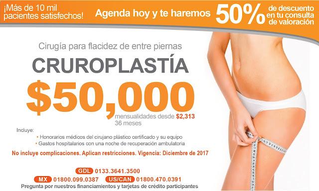 Precio Paquete Cirugia Plastica Estetica Piernas Flacidez Cruroplastia Guadalajara Mexico