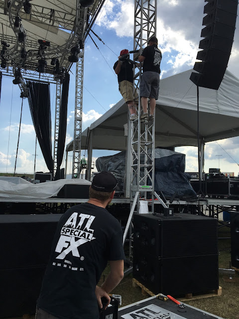 Imagine Music Festival Stage Special Effects Cryo Jet installed by ATL Special FX®
