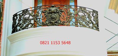 balkon besi tempa untuk pagar klasik