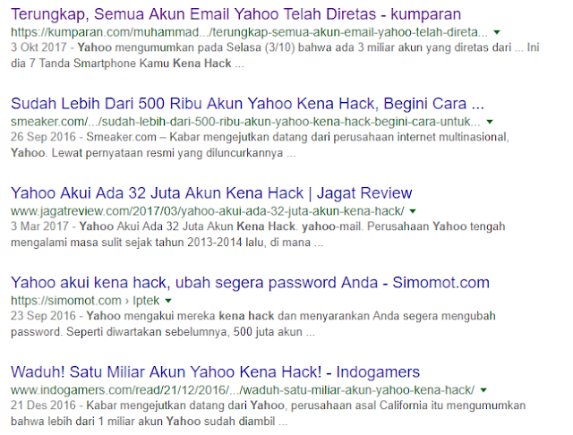 Kenapa Yahoo Sering diretas