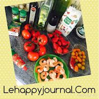 gaspacho, tomates, fraises, gambas, crevettes, recette, espagne, test, happy journal
