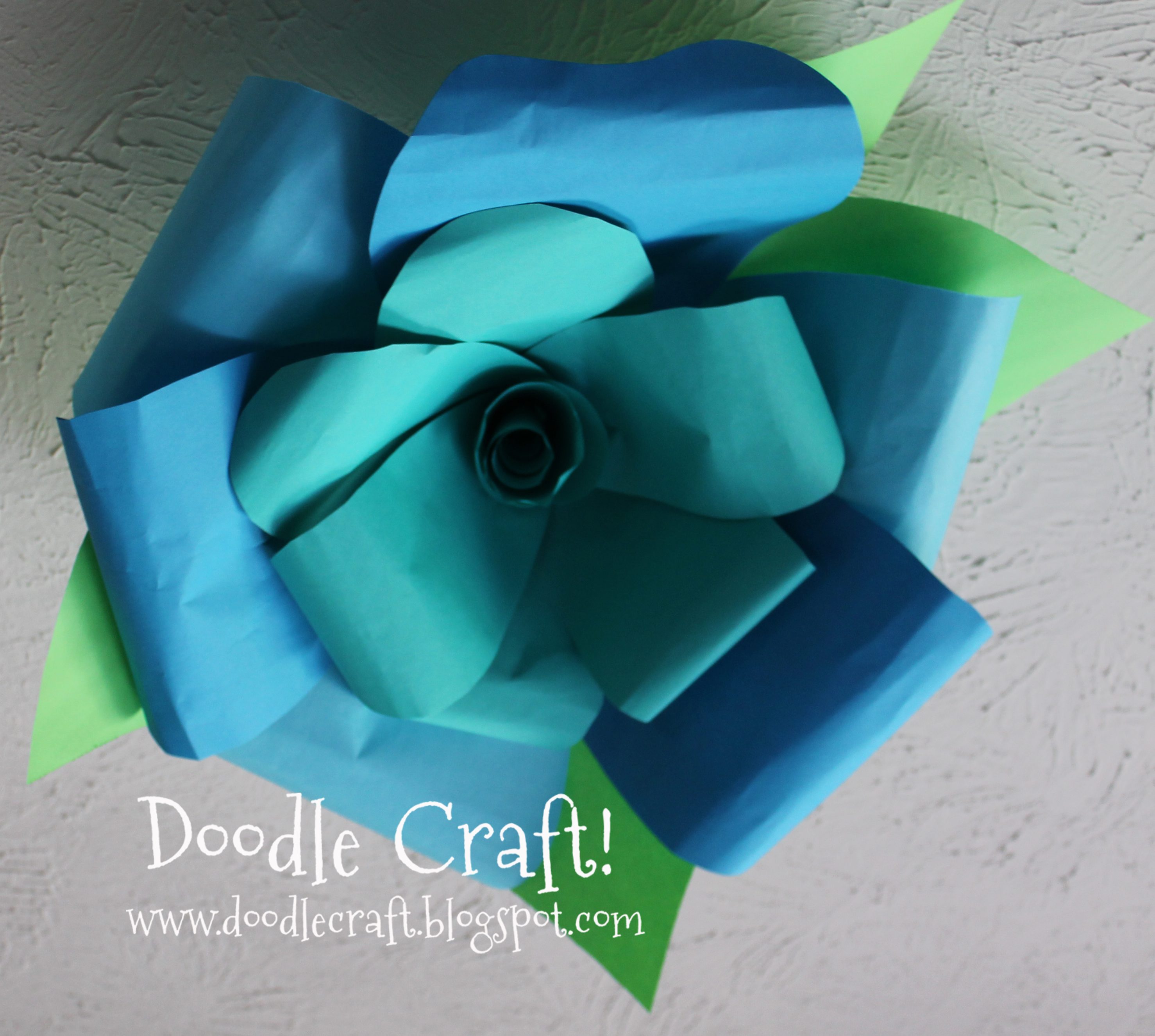 learn how to make giant flowers out of paper.