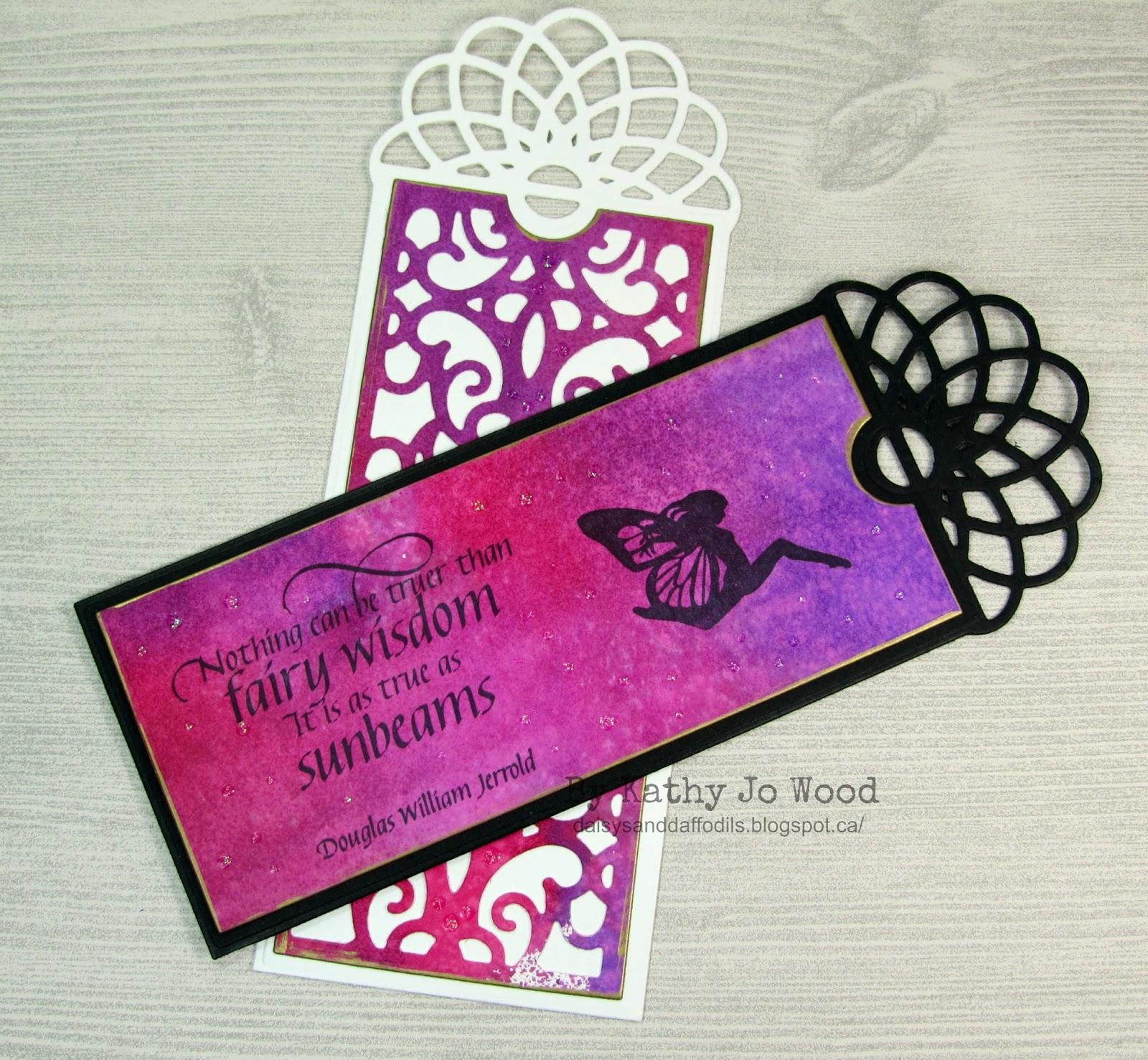 I M A Little Teapot Fairy Mixed Media Bookmarks