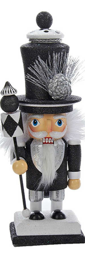 Kurt Adler Checker Wooden Nutcracker