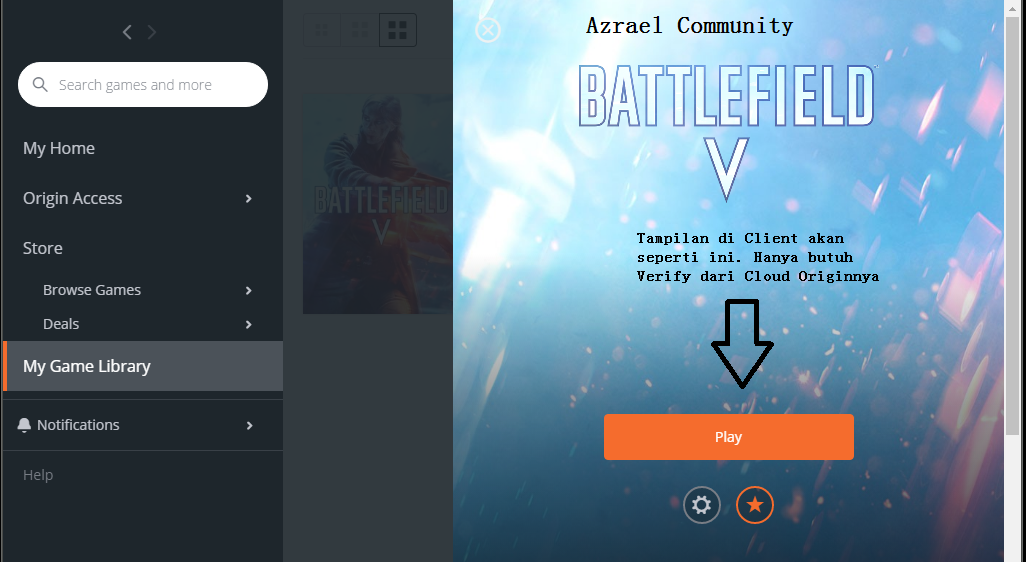 Install Game Origin Battlefield V System Diskless - Azrael