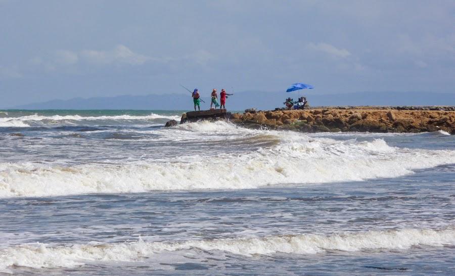 pesca en la playa