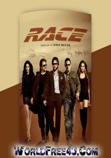 Poster Of Hindi Movie Race 2008 Full HD Movie Free Download 720P Watch Online