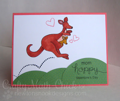 Hoppy Valentine's Day Mom kangaroo card by Crafty Math Chick | Hoppy Days by Newton's Nook Designs