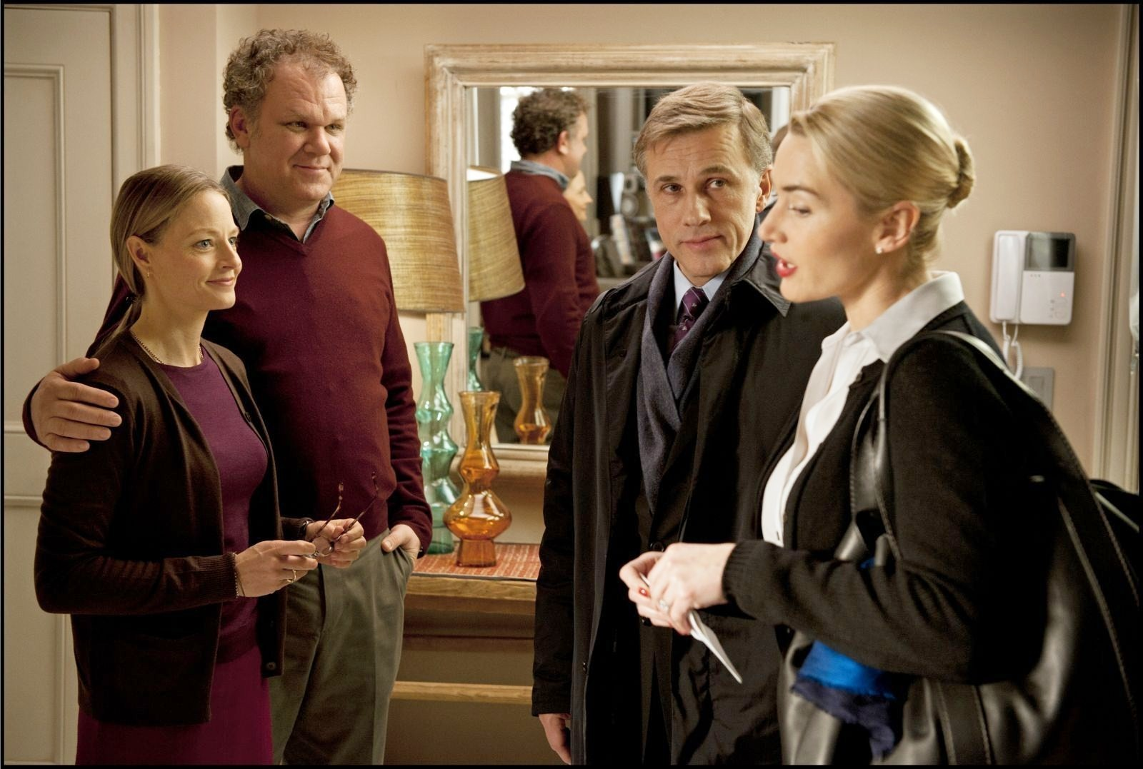 Jodie Foster, John C. Reilly, Christoph Waltz and Kate Winslet in Carnage (2011)