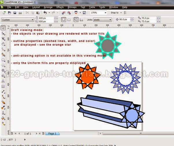 graphic-tutorials: CorelDRAW x5 basics: the viewing modes (4