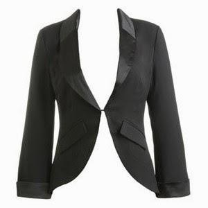 americana, blazer o chaqueta corta con solapas de contraste