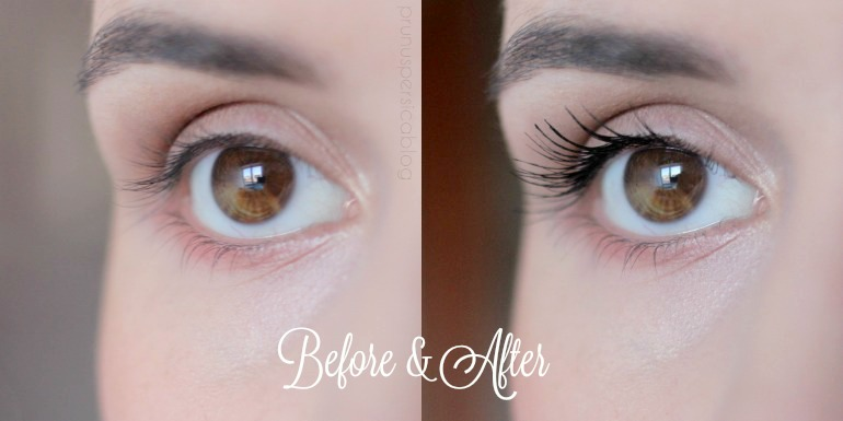 Before and After: MAC False Lashes Extreme Black mascara