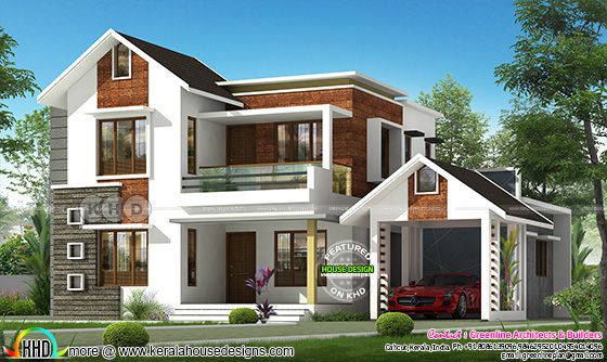 2501 square feet modern contemporary Kerala home design