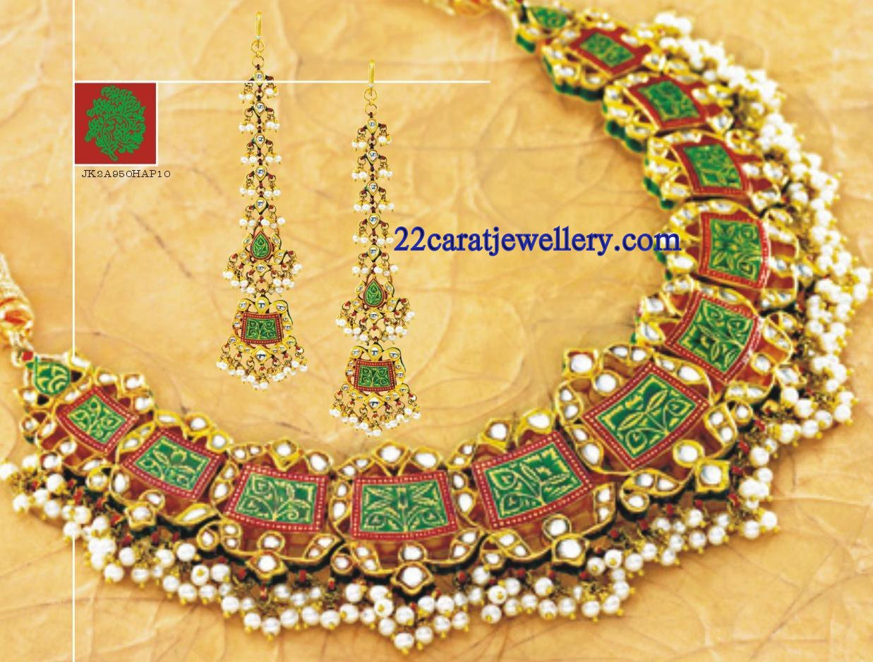 Tanishq Kundan Necklace Set Gallery Jewellery Designs