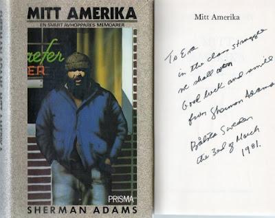Sherman Adams Mitt Amerika