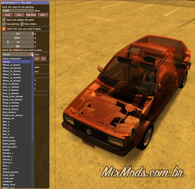 gta sa mod pintar carros color cars rgb transparent