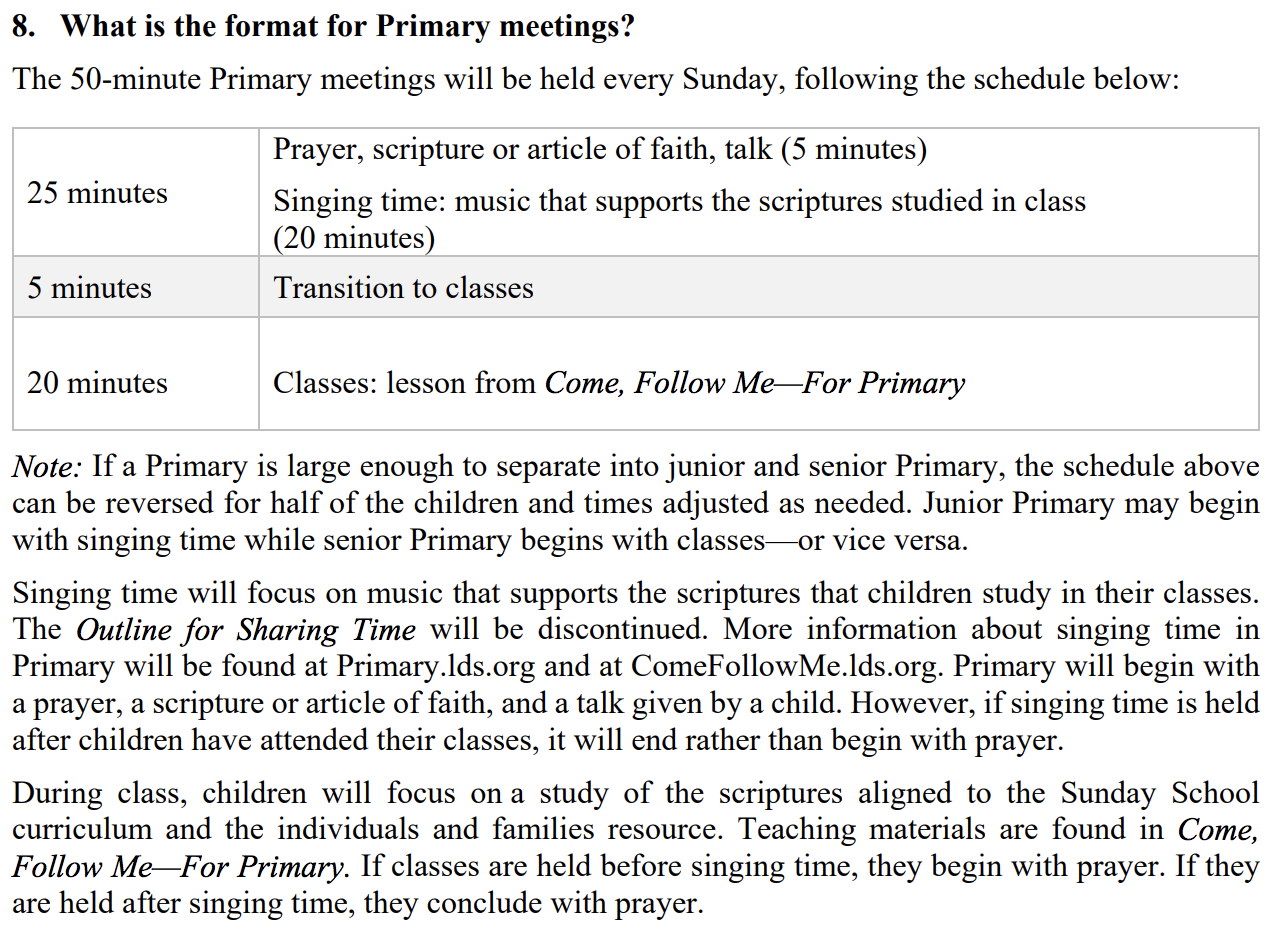 Camille's Primary Ideas: Changes in Primary!!