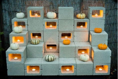20 decoration ideas to make with concrete blocks 3