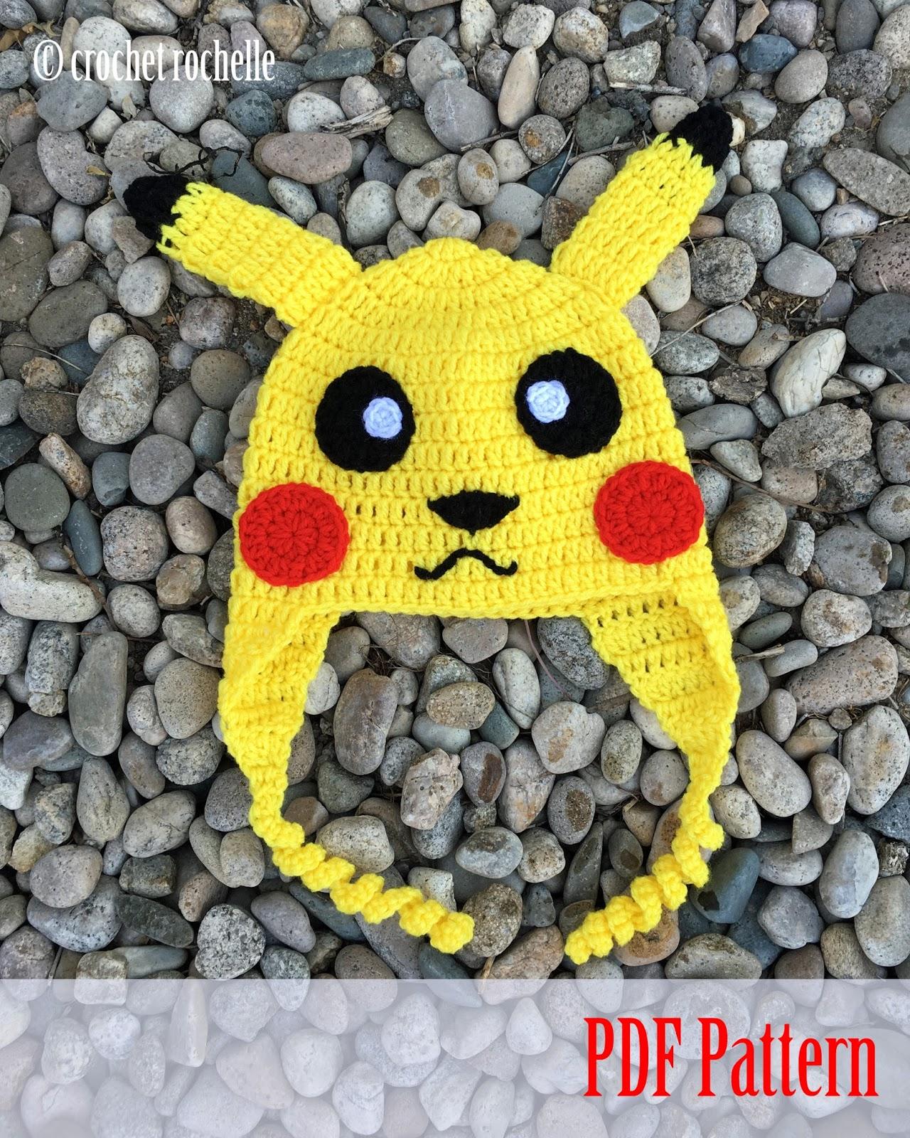 Crochet Rochelle: Pikachu Inspired Hat Pattern