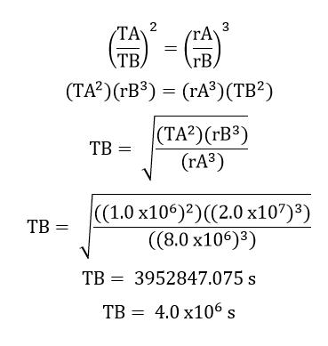 حل أسئلة اختبار المقنن للفصل السابع (الجاذبية)