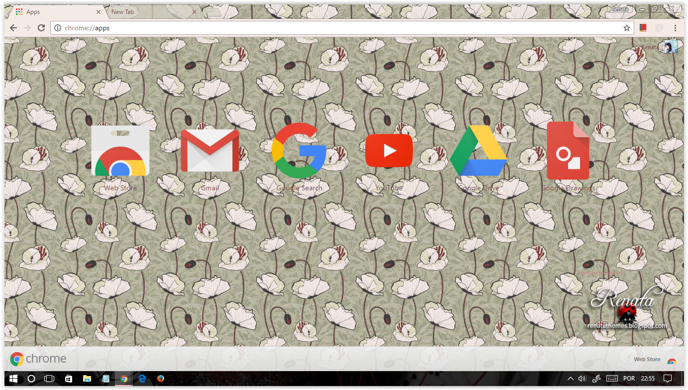 how to change google theme chrome